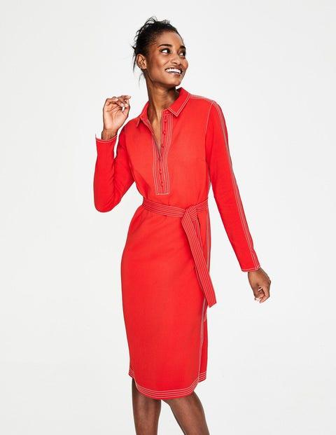 Scarlett Shirt Dress - Post Box Red