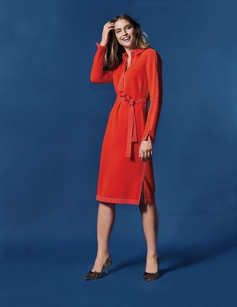 Scarlett Shirt Dress - Post Box Red