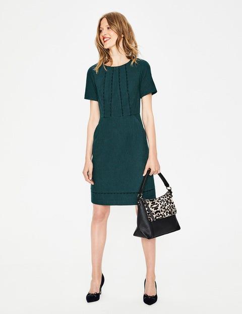 - Boden Strukturiertes Kleid mit Muschelsaum Green Damen , Green grün  