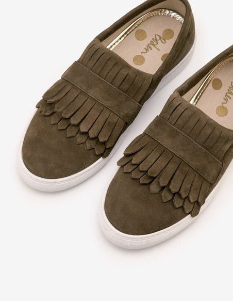 Rayna Slip-On Trainers - Military Green