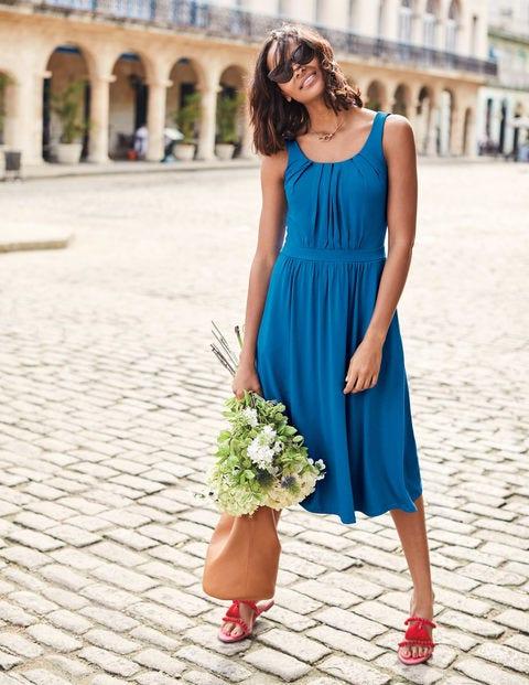Emmie Jersey Dress - Cyan