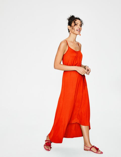 Jemma Jersey Dress - Blood Orange