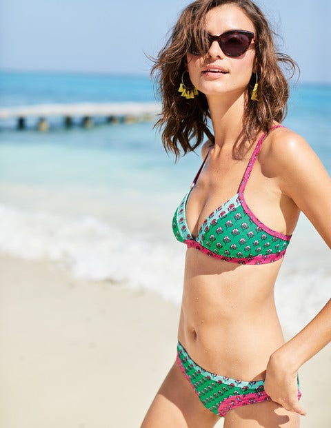 Maddalena Bikini Bottoms - Green Hotchpotch