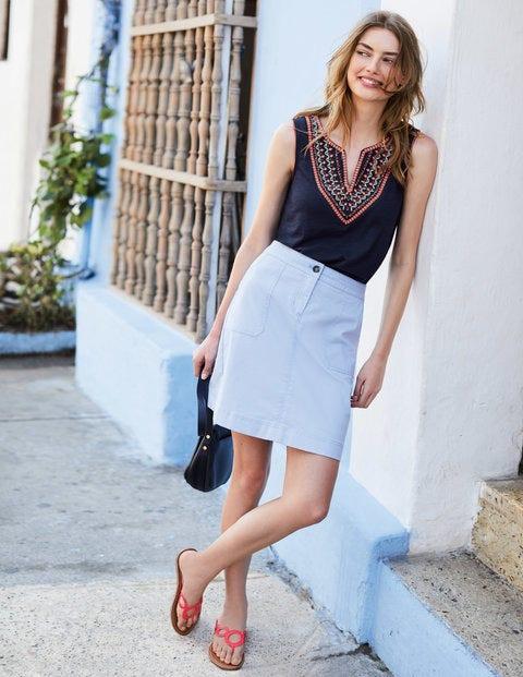 Chino Skirt - Lavender Blue