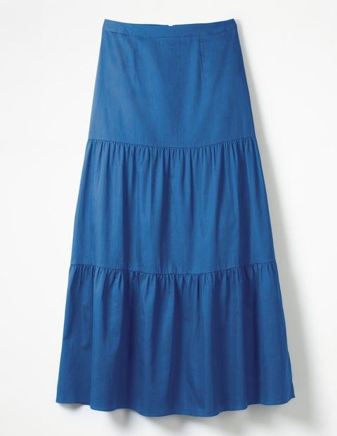 Thea Maxi Skirt - Riviera Blue
