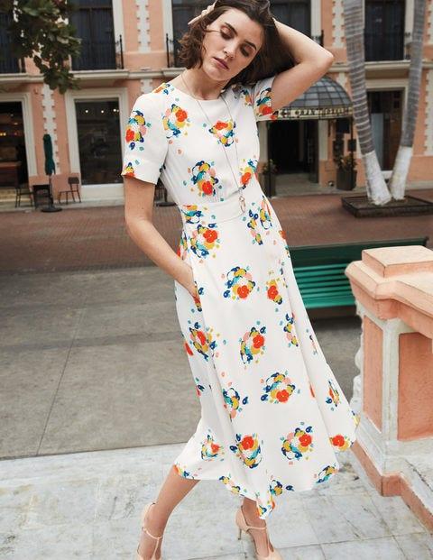 Ruth Midi Dress W0121 Smart Day Dresses At Boden
