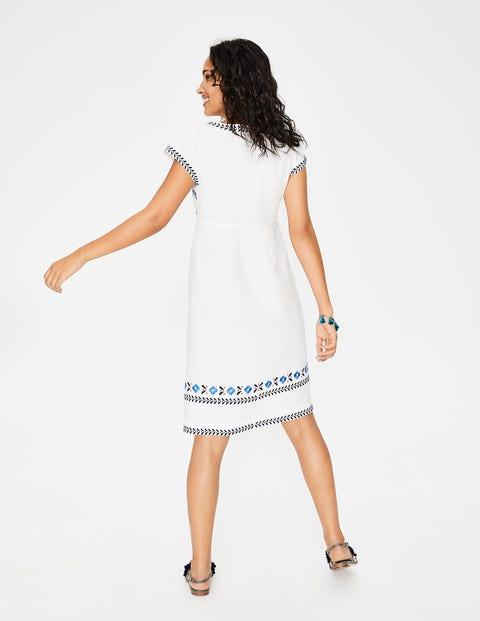 Boden dora kleid mit stickerei