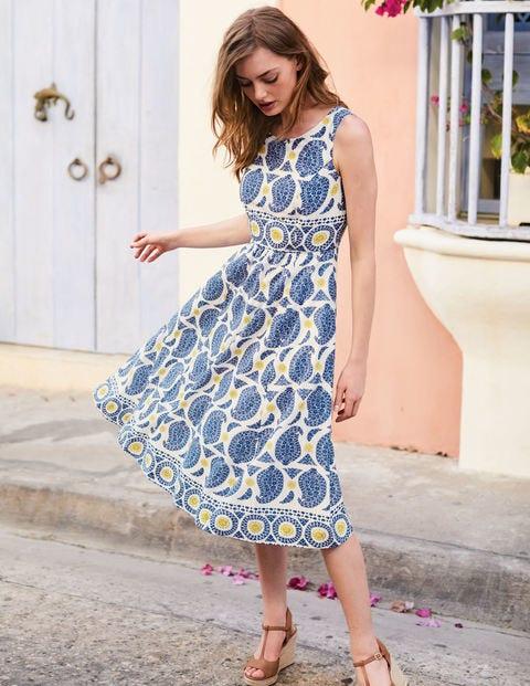 Lizzie Dress - Lupine Blue Duo Paisley