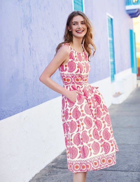 Lizzie Dress - Party Pink Duo Paisley