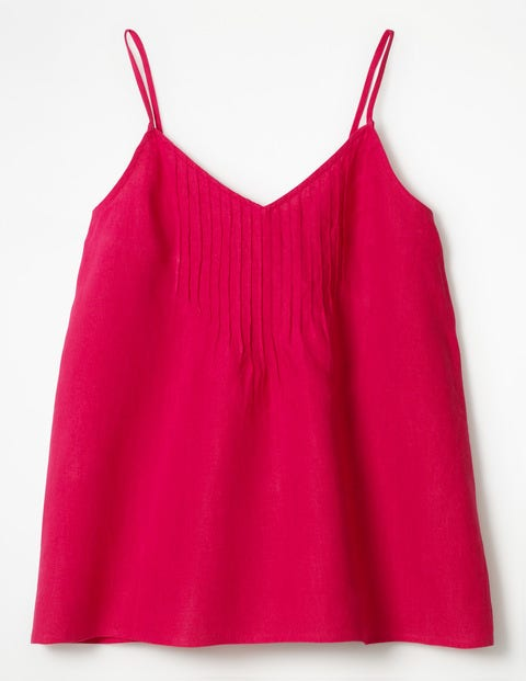Emmeline Pintuck Top - Carnival Pink