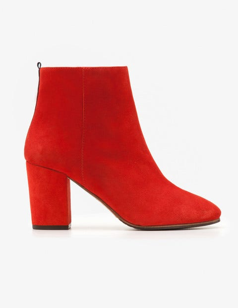 Retro Boots, Granny Boots, 70s Boots Etta Ankle Boots Post Box Red Women Boden Red £130.00 AT vintagedancer.com