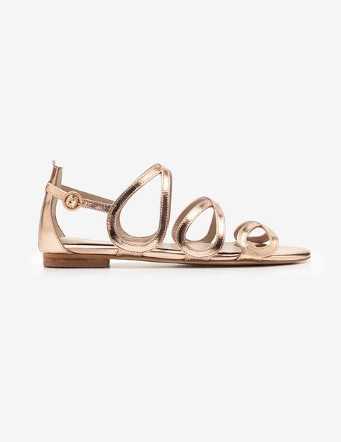 Adela Sandals - Rose Gold Metallic