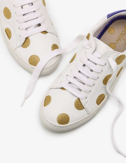 Hollie Sneakers - Gold Embroidered Spot