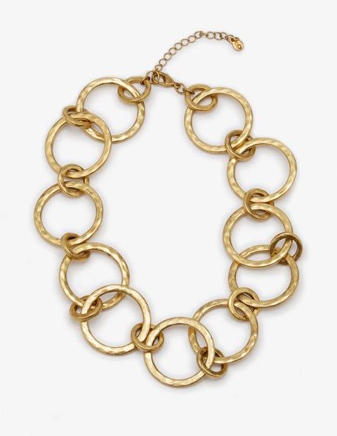 Delphine Necklace - Antique Gold Metallic
