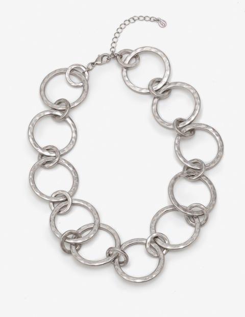 Delphine Necklace - Antique Silver Metallic