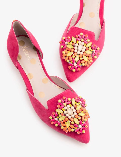 Leah Jewelled Flats - Carnival Pink