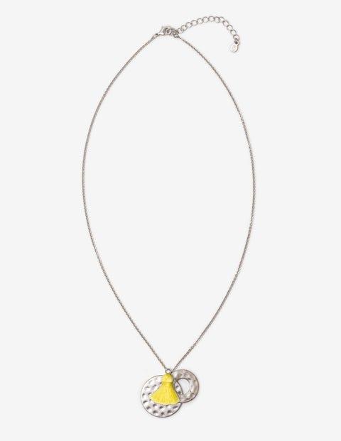 Halskette Mit Quasten - Zitrus