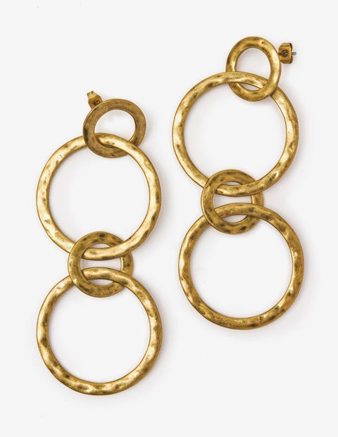 Delphine Drop Earrings Antique Gold Metallic Women Boden