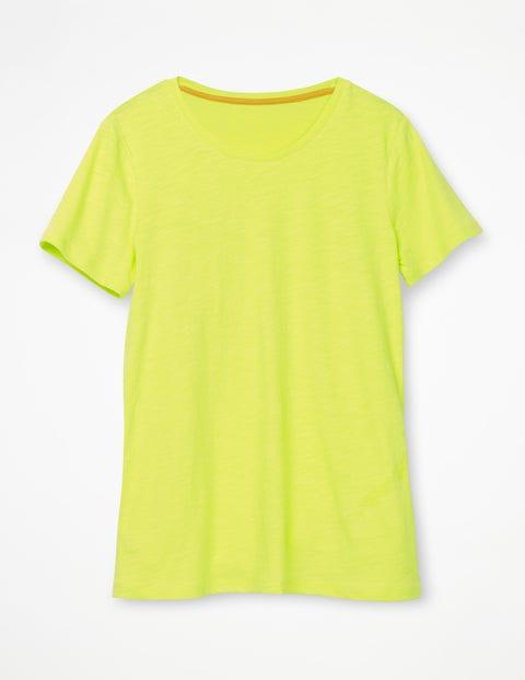 The Cotton Crew Neck Tee Yellow Women Boden, Yellow