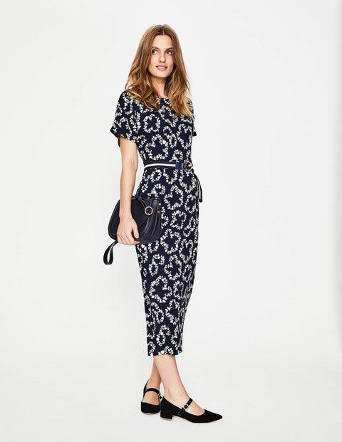 Vanessa Jersey Dress - Navy Garland