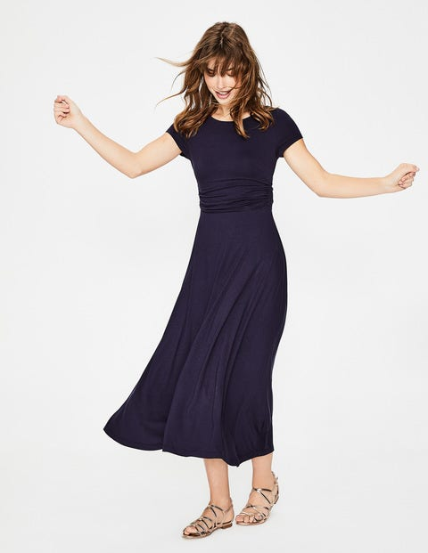 Valerie Jersey Dress - Navy