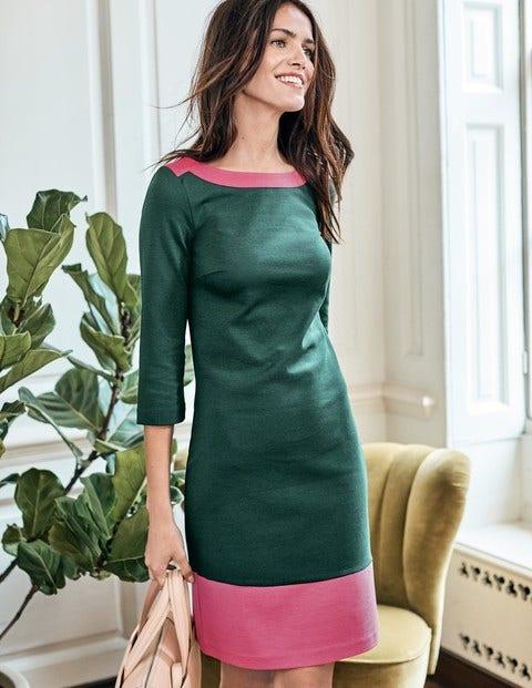 Siobhan Ponte Dress - Midnight Garden Green/Pink