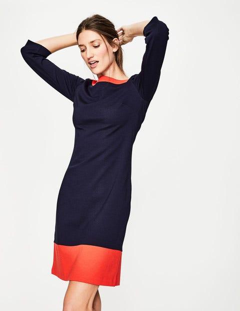 Siobhan Ponte Dress - Navy/Red Pop