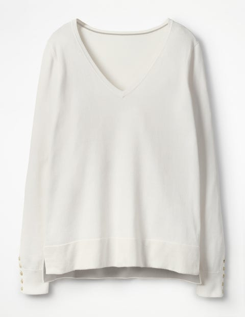 Tilly V-Neck Sweater - Ivory
