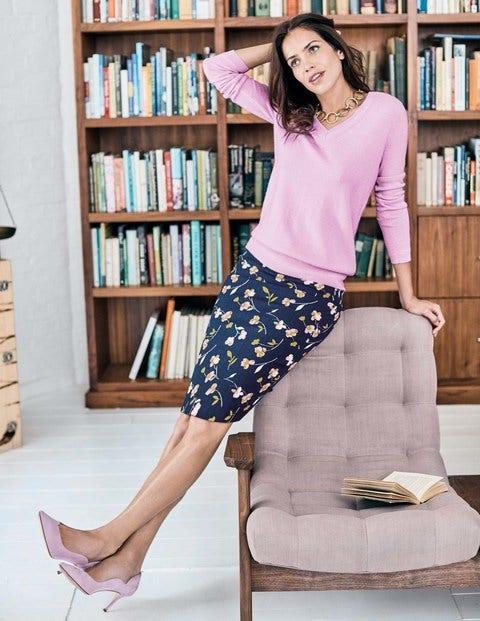Cashmere Relaxed Vneck Sweater - Rosebay
