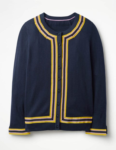 Vintage Sweaters: Cable Knit, Fair Isle Cardigans & Sweaters Abigale Cardigan Navy Women Boden Navy £80.00 AT vintagedancer.com