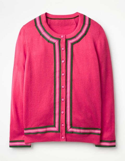 Abigale Cardigan Pink Women Boden, Pink