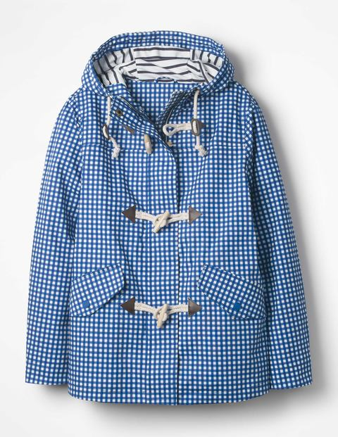 Whitby Waterproof Jacket Persian Blue Gingham Women Boden