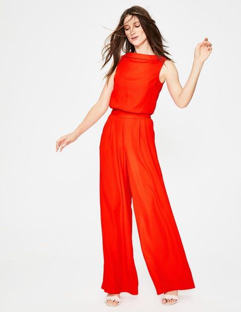 Clarissa Jumpsuit - Red Pop