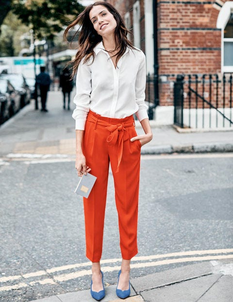 Melina Paperbag Trousers - Red Pop