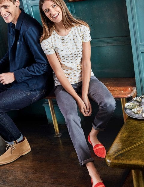 Trafalgar Straight Leg Jeans - Grey