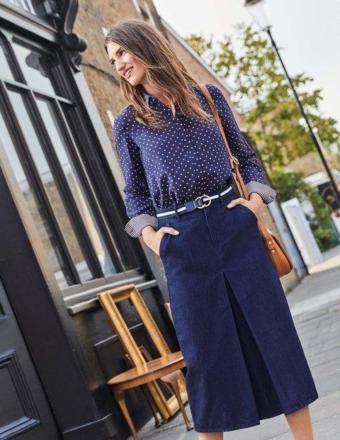Mira Denim Skirt - Indigo