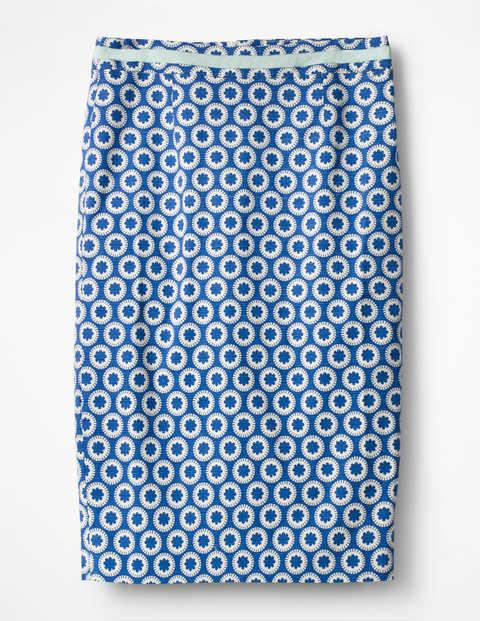 Modern Pencil Skirt - Lupine Blue, Pompom Spot