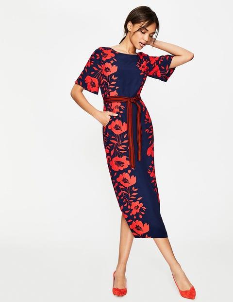Elspeth Dress - Post Box Red Poppy