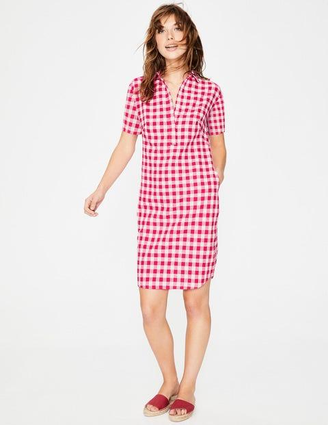 Eleanor Dress Hibiscus Gingham Women Boden