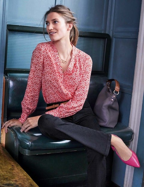 Annora Blouse - Post Box Red Meadow