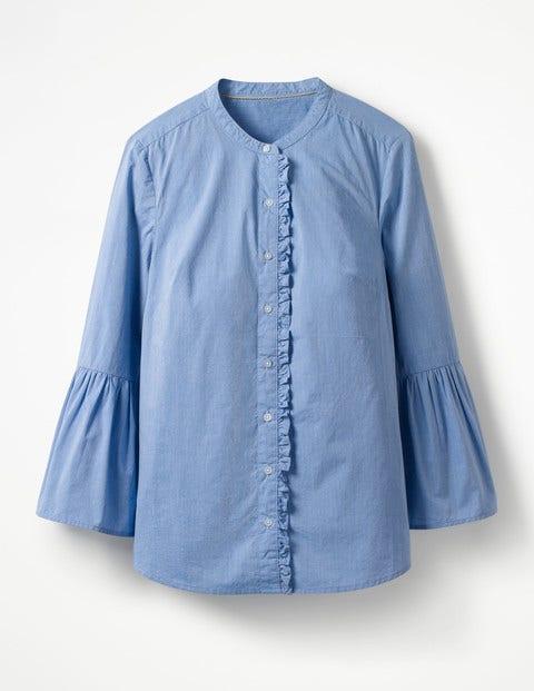 Hemd mit Glockenärmeln Blue Damen Boden, Blue
