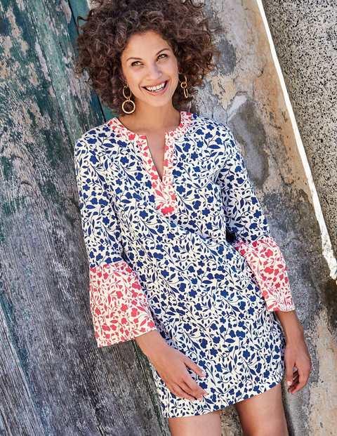 Jodie Kaftan - Ecru and Klein Blue Meadow