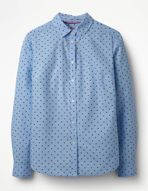 The Classic Shirt - Powder Blue and Red Pop Spot