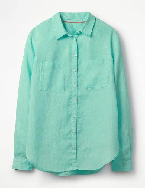 a403014c4fc9 The Linen Shirt - Aqua Sky