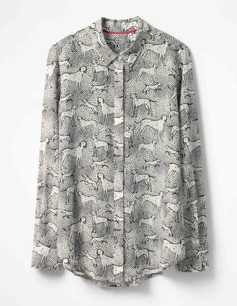 Silk Shirt - Ecru Dalmatian Spot