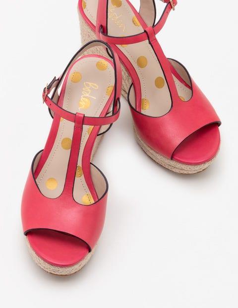 Boden Espadrilles mit Keilabsatz und T-Steg Pink Damen Boden, Pink pink |