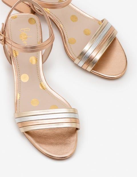 Zoe Heeled Sandals - Rose Gold