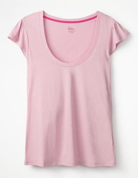 Superweiches Flatter-T-Shirt - Pfingstrose