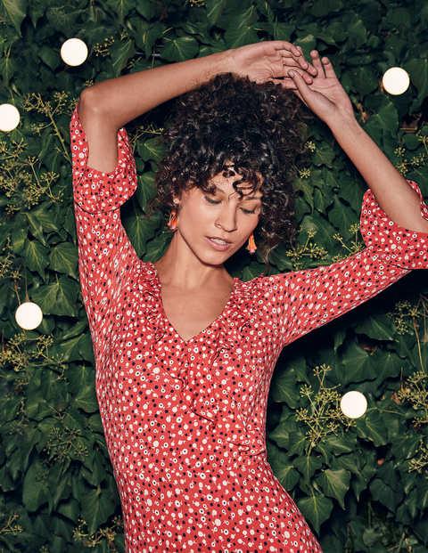 Michaela Jersey Dress - Rosehip Daisy Ditsy