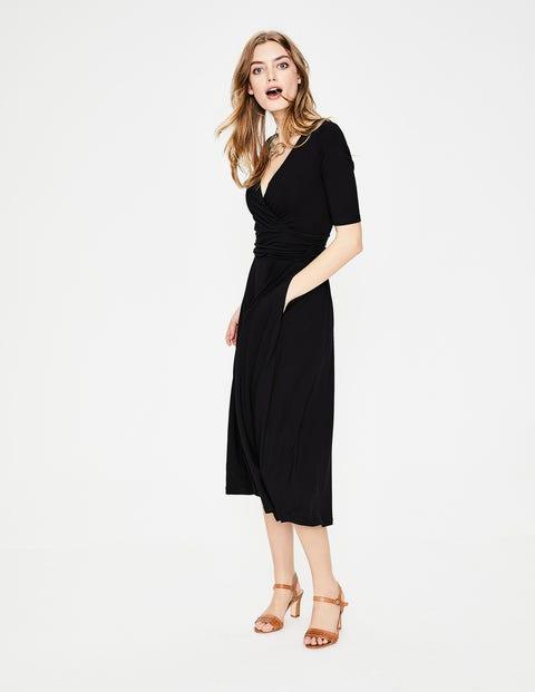 Kassidy Jersey Midi Dress - Black